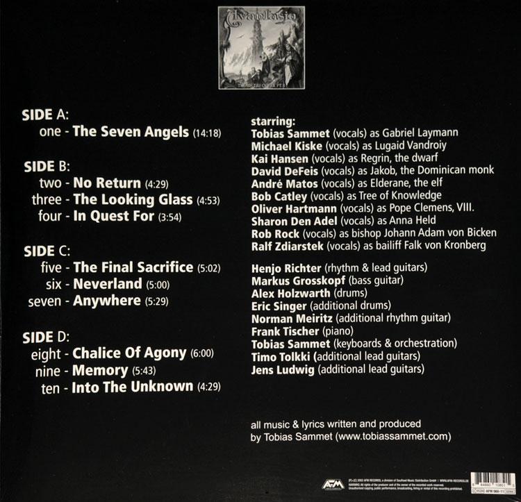 Lyric lyrics opera : THE METAL OPERA PART II (PICTURE DISC 2LP)