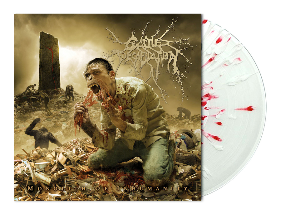 CATTLE DECAPITATION - MONOLITH OF INHUMANITY (CLEAR w/ RED & WHITE SPLATTER vinyl LP)