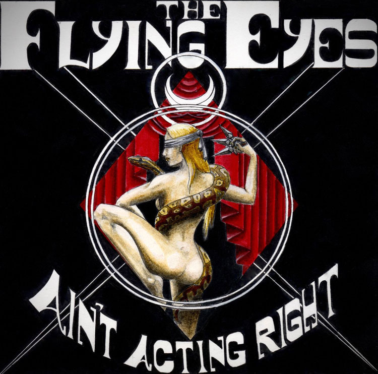 "FLYING EYES / LAZLO LEE & THE MOTHERLESS CHILDREN - AIN'T ACTING RIGHT / NOWHERE TO RUN (RED vinyl 7"")"