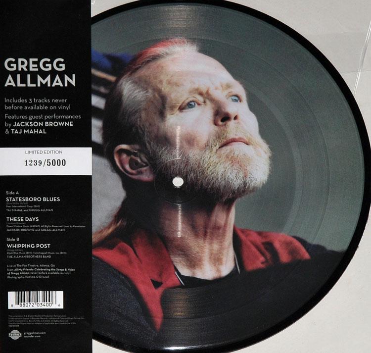 Gregg Allman Live 10 Picture Disc Ep