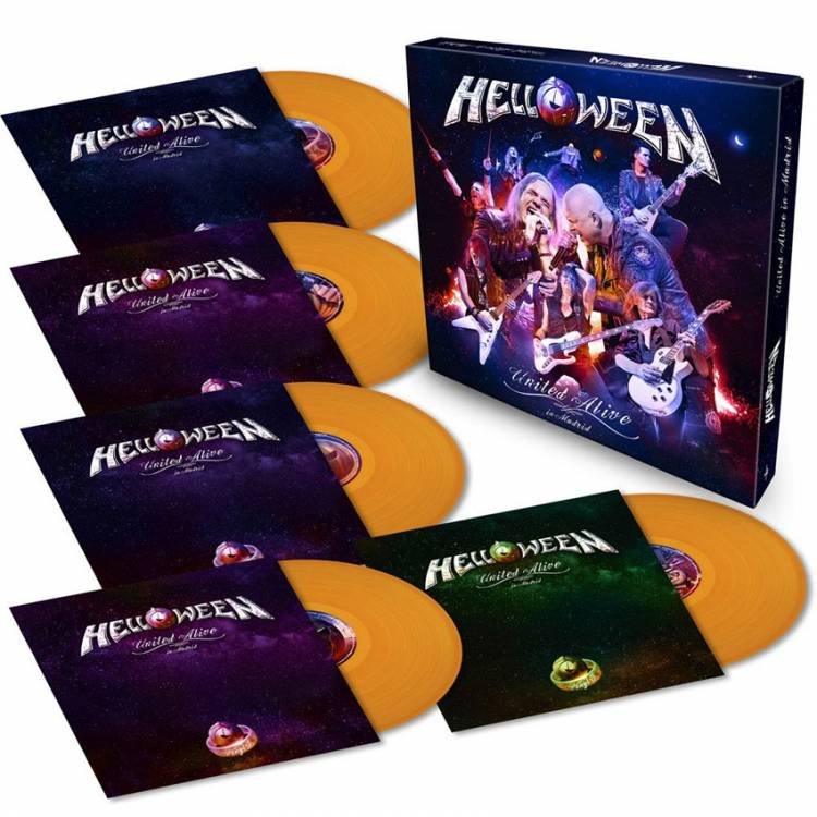 HELLOWEEN - UNITED ALIVE IN MADRID (ORANGE vinyl 5LP BOX SET)