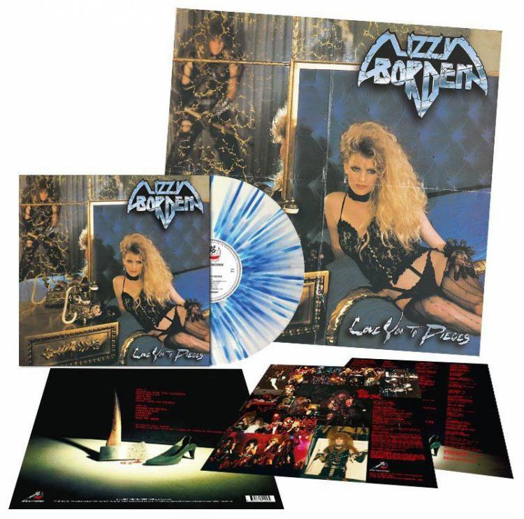 LIZZY BORDEN - LOVE YOU TO PIECES (BLUE/WHITE SPLATTERED vinyl LP)