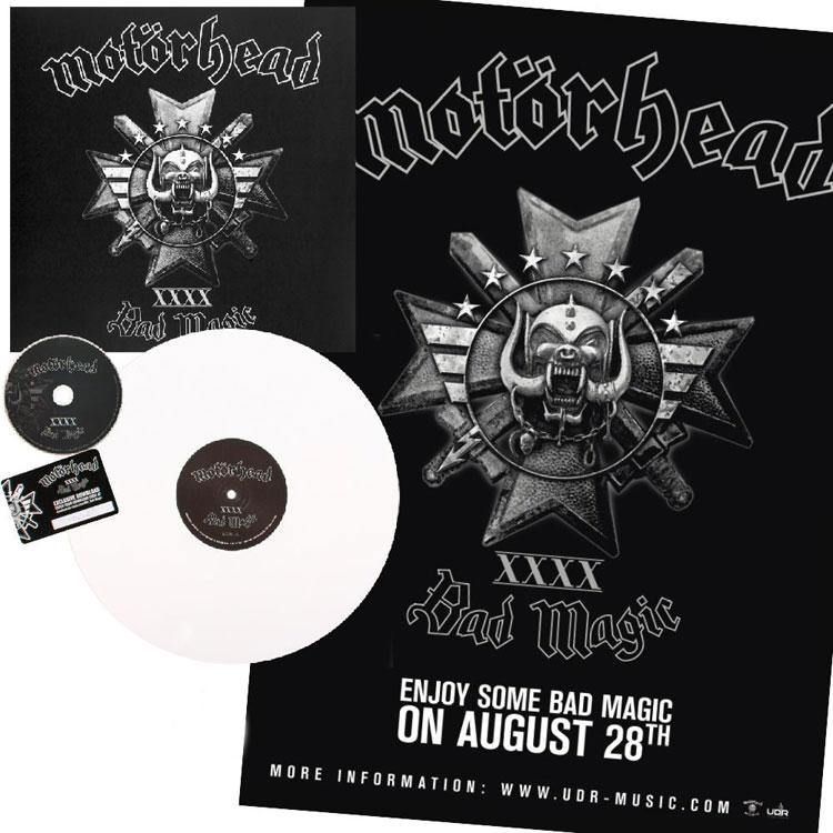 MOTORHEAD BAD MAGIC WHITE Vinyl LP CD - Vinylboden nassraum