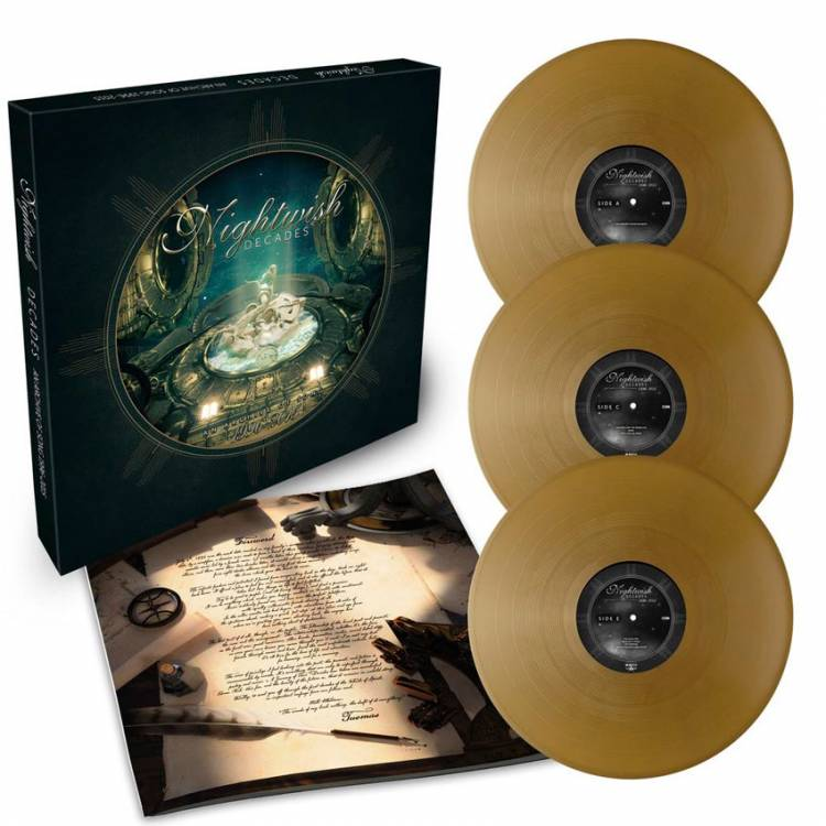 NIGHTWISH - DECADES: AN ARCHIVE OF SONG 1996-2005 (GOLD vinyl 3LP BOX SET)