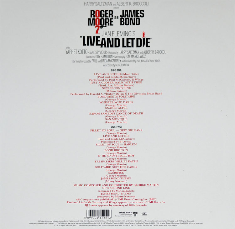 OST - LIVE AND LET DIE (LP)