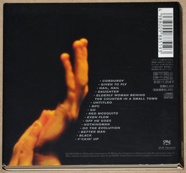 PEARL JAM - LIVE ON TWO LEGS (CD)