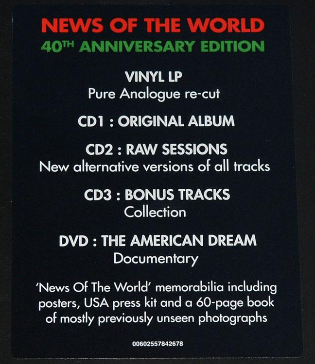 QUEEN - NEWS OF THE WORLD (LP + 3CD + DVD BOX SET)