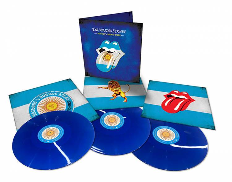 THE ROLLING STONES - BRIDGES TO BUENOS AIRES (BLUE vinyl 3LP)