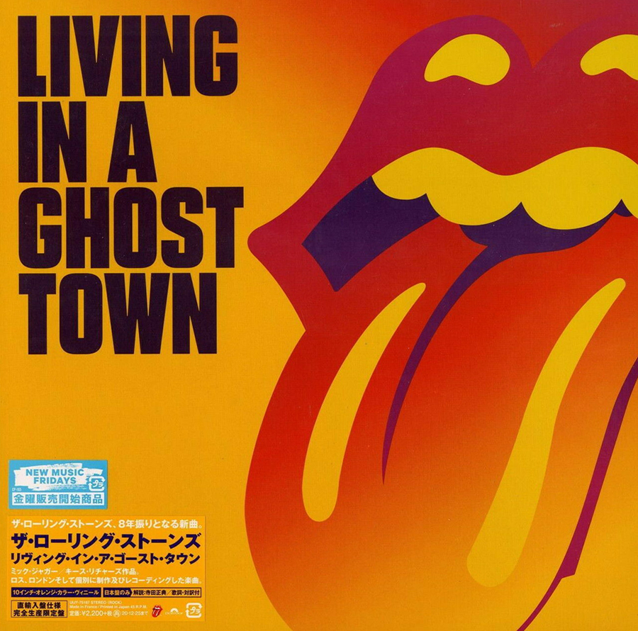 ROLLING STONES - LIVING IN A GHOST TOWN (ORANGE vinyl 10