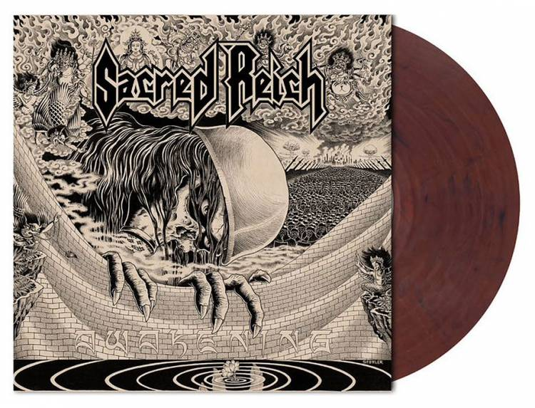 SACRED REICH - AWAKENING (CLEAR/RED-BROWN MARBLED vinyl LP)