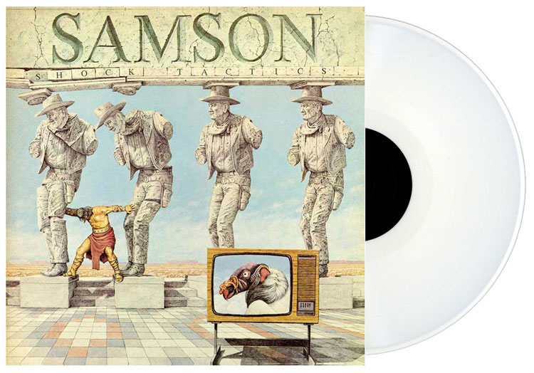 SAMSON - SHOCK TACTICS (WHITE vinyl LP)