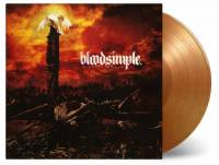BLOODSIMPLE - A CRUEL WORLD (ORANGE & GOLD MIXED vinyl LP)
