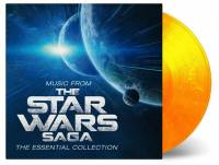 JOHN WILLIAMS - MUSIC FROM THE STAR WARS SAGA: THE ESSENTIAL COLLECTION (FLAMING vinyl 2LP)