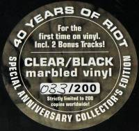 RIOT - ARMY OF ONE (CLEAR/BLACK MARBLED vinyl 2LP)